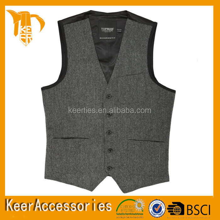 Hot Selling 100% Polyester Men's Waistcoat for wedding