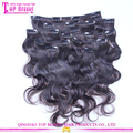Wholesale hair extension clip in hot sale 7a grade clip in hair extensions free sample new design clip hair extension