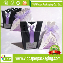 Low Price custom bride and groom wedding favor box