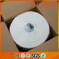Ceramic fiber insulation paper for back-up lining of metal troughs