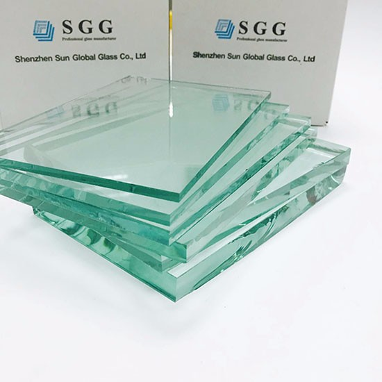 China temperable colorless 2-19mm clear float glass price