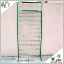 Stable metal green leather belt display stand for shop