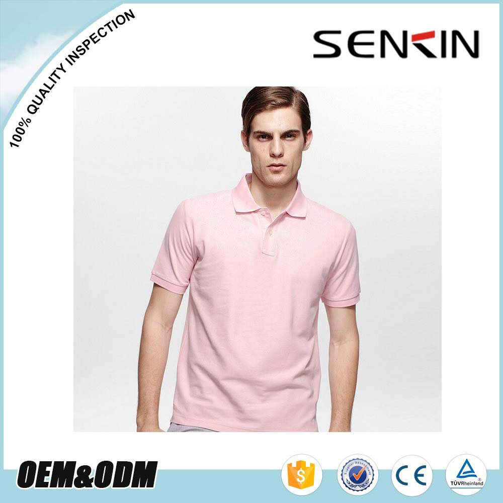 Plus Size dry fit eyelet fabric 100% polyester Pink polo tee shirt for men summer Apparel