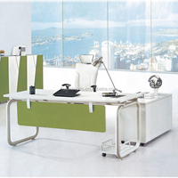 Simple Style executive wood & metal office desk