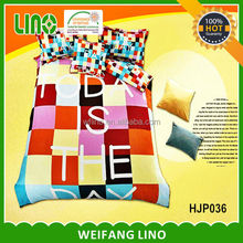 printed polyster/cotton bedding 3d bright bedding set