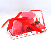 a suit of red Aromatherapy essential oils and scented tealight candles from allite factory