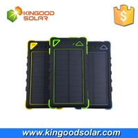 With frosted material dual usb portable 8000mah waterproof solar power bank charger for mobile phone
