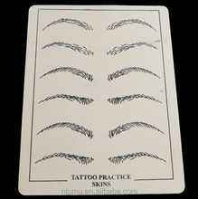 rubber eyebrow lip tattoo fake skin cheap tattoo artificial skin, permanent makeup tattoo practice skin