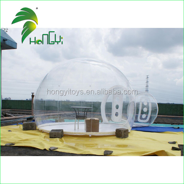 Popular PVC Outdoor Inflatable Clear Dome / Portable Camping Bubble Inflatable Yurt Tent
