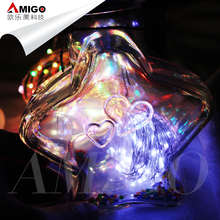 3*AA battery box operated holiday decorative copper wire LED fairy string lights