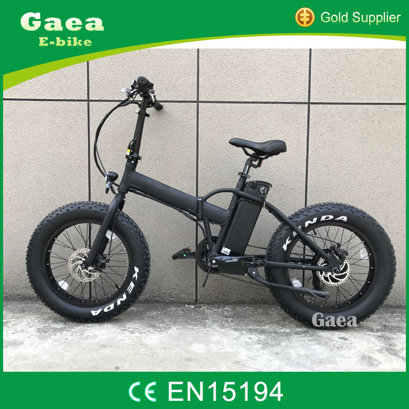 Gaea 20 inch super folding electric bike fat tire bicycle hot sale mountain bike