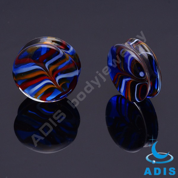 Fashion jewelry wholesale earring plug piercing glass flesh tunnel