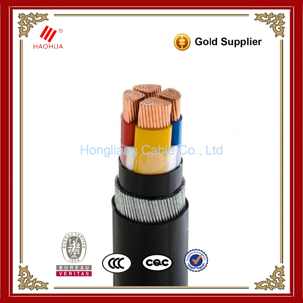 NO.3219- 0.6/1kV Low Voltage 4 Core Copper Armoured CU/XLPE/SWA/PVC Electrical Underground Copper Cable 35mm2