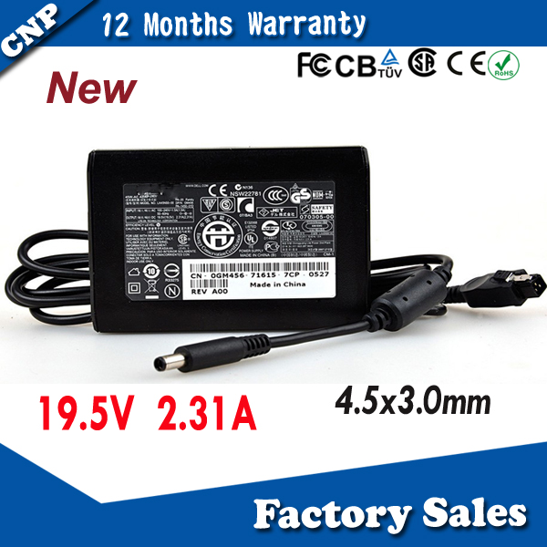 Hot buy high quality for Dell laptop charger 45W 19V 2.31A