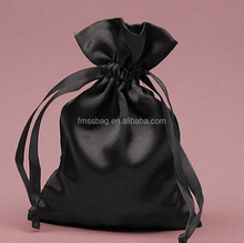 Satin Drawstring Bag Hair Extension Packaging design With Customized Logo