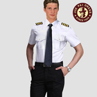 Air uniforms pilot uniforms seafarers work wear male short - sleeved railway shirts air crew uniforms