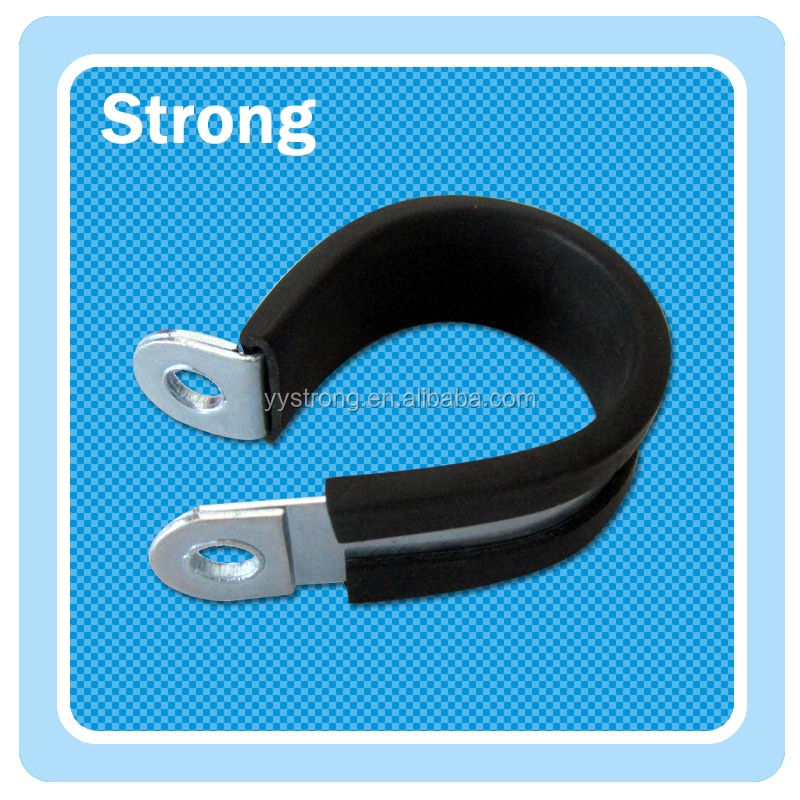 304/316 multi sizes zinc plated steel cushion rubber lined hose pipe clamp