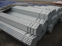 Q235 zinc coating galvanized steel pipe/BS1387galvanized steel pipe/BS1387/ASTM A53 ERW round hot dip galvanized steel pipe
