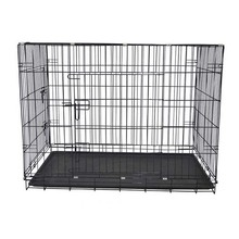 Heavy Duty Large Metal Dog Crate Tray Dog Cage Portable Travel Kennel