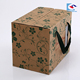 Hot selling custom design brown kraft paper Fruit packaging box with ribbon