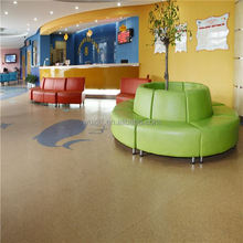 Indoor office pvc badminton rubber flooring with CE,ISO9001,ISO14001
