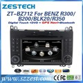 ZESTECH central multimedia Car DVD for Mercedes Benz B200/BLK200/R300/R350 dvd player with radio gps navi, digital tv optional