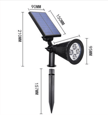 beautiful design adjustable solar garden lighting lamp for outdoor lighting and fence lighting