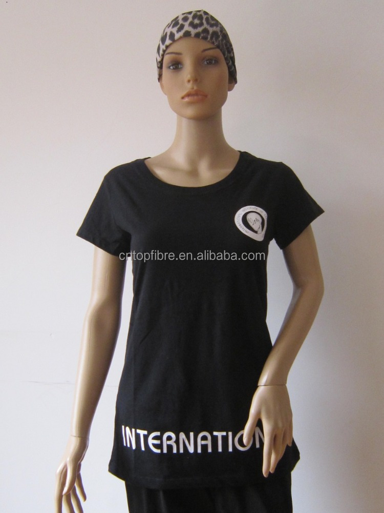 10057 Fashion style Hand Made 100% Cotton Jersey White/Black Barber T-shirt