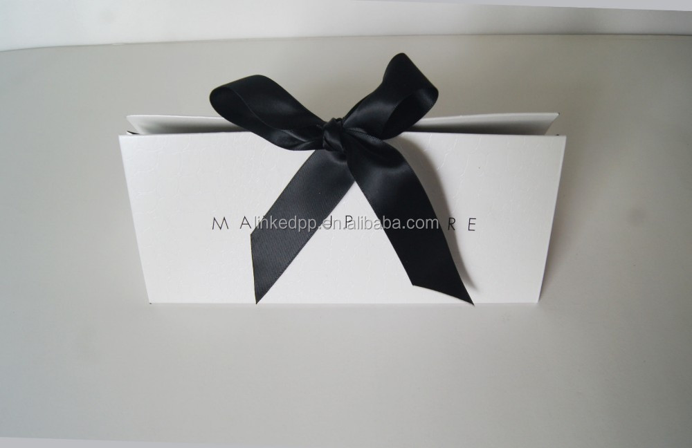 Creative triangle gift bag with ribbon bow tie