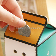 new Milk Design Money Eating Box/ Customized Cute Vinyl Piggy Bank Money Coin Saving Bank Guangdong Factory