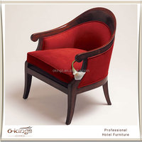 red hotel armchairs, hotel room sofa chair manufacturer furniture