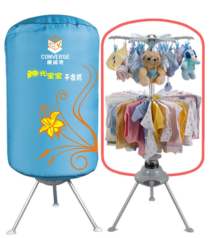 Commercial electronic travel clothes dryer