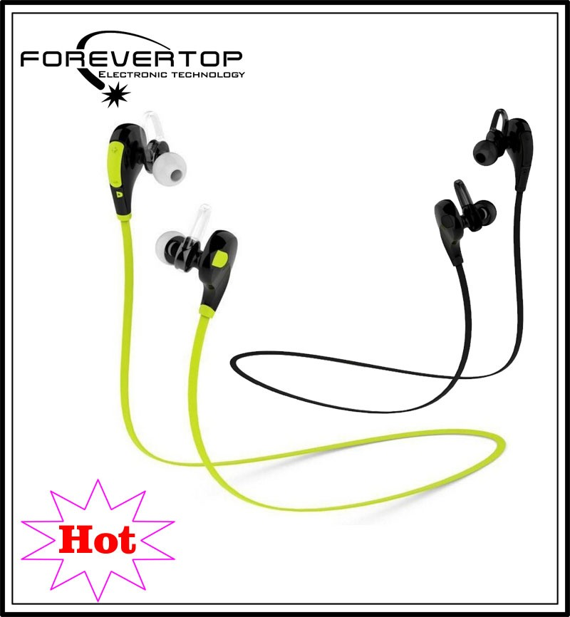 2016 hot selling sport wireless high quality earphone 10m bluetooth earphone mic