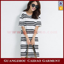 Exquisite Striped Fashion Casual Dress For Lady Woman Casual Summer Wear