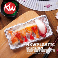 KW-0006 plastic disposable Sushi Tray with Clear Lid