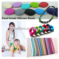 Innovative Baby Products Silicone Beads to DIY Necklace and Bracelet for Baby Playing