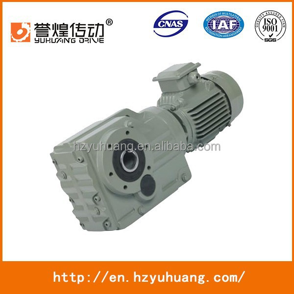 yuhuang type K107 Bevel Gearbox Helical arrangement gearbox price good