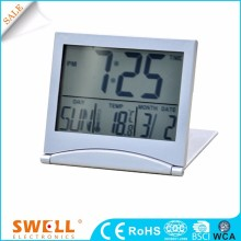small fold travel digital alarm clock , custom pace flip clock