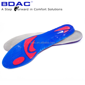 Massaging footcare gel insole tpe gel dura shock insoles