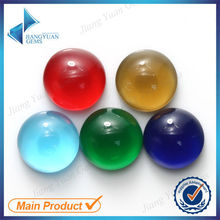 Wholesale Glass 8mm Round Multi Colors Cabochon Gemstones