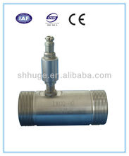 Male screw connection gas turbine flow meter
