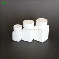 different size HDPE square bottles for solid medicine/pill