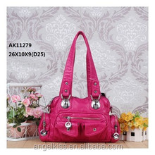 2014 Top 10!!Classical Design fashion angel kiss washed pu handbag