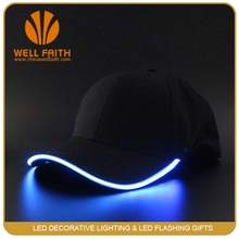 Led Flashing hat with EL wire, beautiful glowing baseball cap, lighting hat