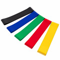 "Super Quality 12""x2' Exercise Training Resistance Loop Bands Set with Custom Booklet and Colored Box"