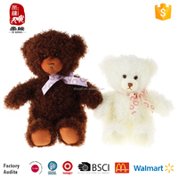 Coca Cola/WCA/BSCI/ISO9001 audited factory hot sale soft fluffy teddy bear for girls