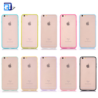 New products 2018 scratch resistant matte hard pc back cover silicone tpu bumper case hybrid mobile phone case for iphone 7