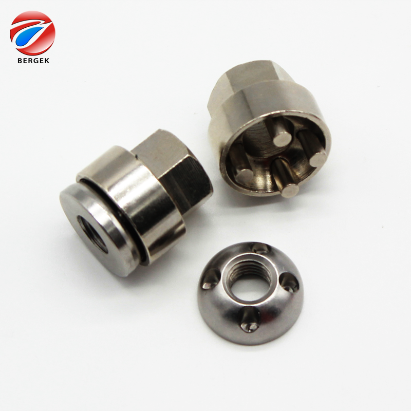 Widely use Stainless steel nut anti theft security nuts with wrench <strong>m10</strong> Nickel Plated