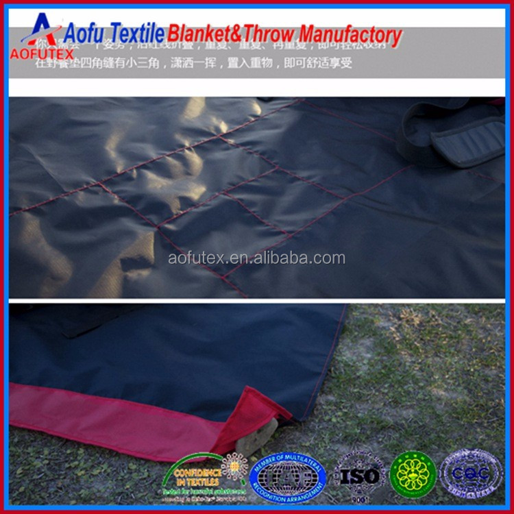 150x100cm 110x70cm mini nylon pocket mat outdoor waterproof picnic blanket manufacturer in China