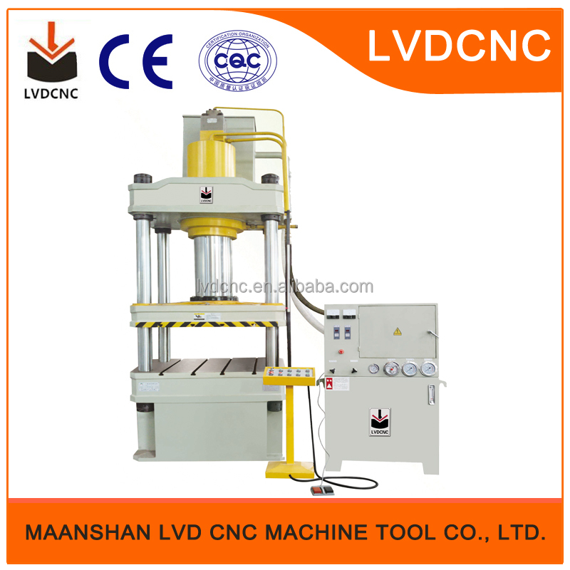YQ32-315 ton 4 column hydraulic press, LVD-CNC brand hot sale stainless steel hydraulic cold press